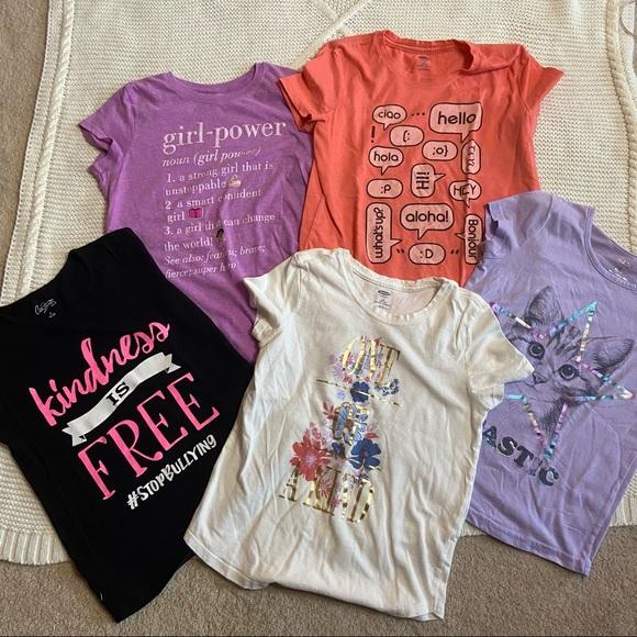 Sold: Girls 10/12 Girl Power Tees